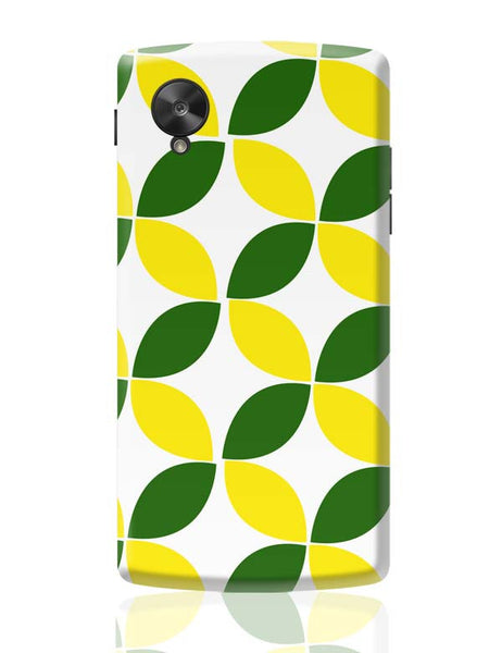 Green Leaf Pattern Google Nexus 5 Covers Cases Online India