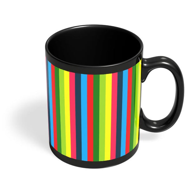 Bright Colours Black Coffee Mug Online India