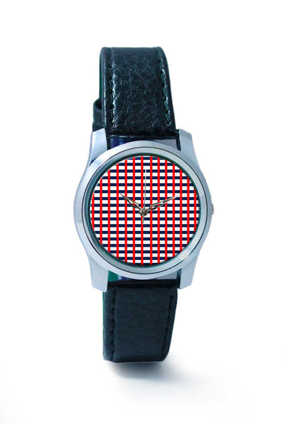 Women Wrist Watch India | Red Stripes Wrist Watch Online India