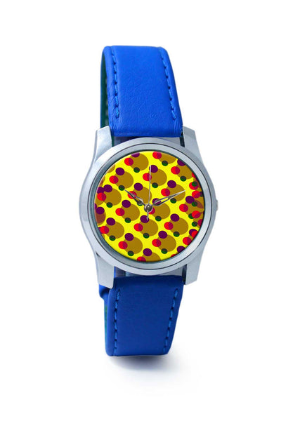 Women Wrist Watch India | Yellow Circles Wrist Watch Online India
