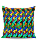 Abstract Color Triangle Cushion Cover Online India