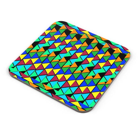 Abstract Color Triangle Coaster Online India