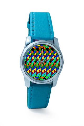 Women Wrist Watch India | Abstract Color Triangle Wrist Watch Online India