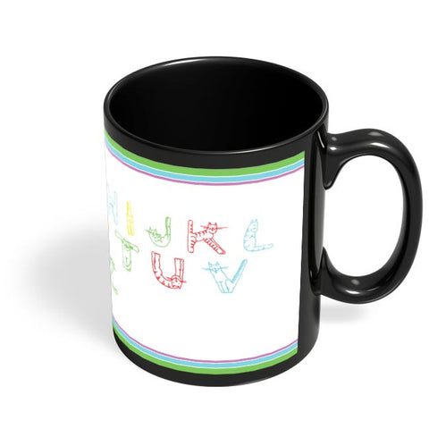 Coffee Mugs Online | Typographic World Black Coffee Mug Online India