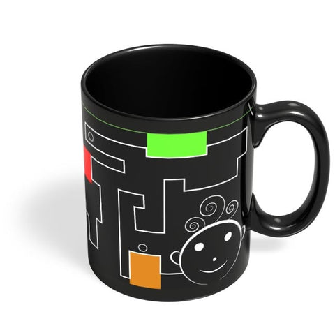 Cartoon Black Coffee Mug Online India