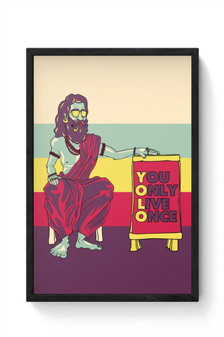 Yolo Framed Poster Online India
