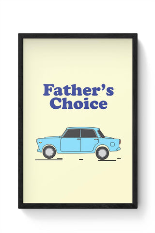 Father's car Framed Poster Online India