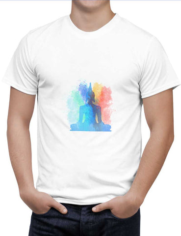 Buy Buddha Art Woman T-Shirts Online India | Buddha Art T-Shirt | PosterGuy.in