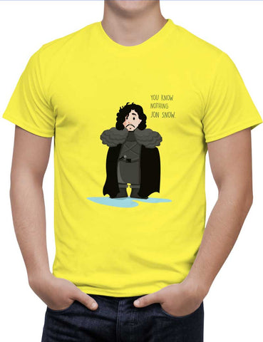 Buy You Know Nothin Snow Woman T-Shirts Online India | You Know Nothin Snow T-Shirt | PosterGuy.in