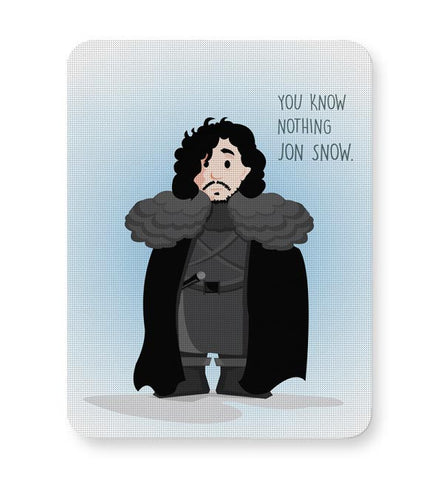 You Know Nothin Snow Mousepad Online India