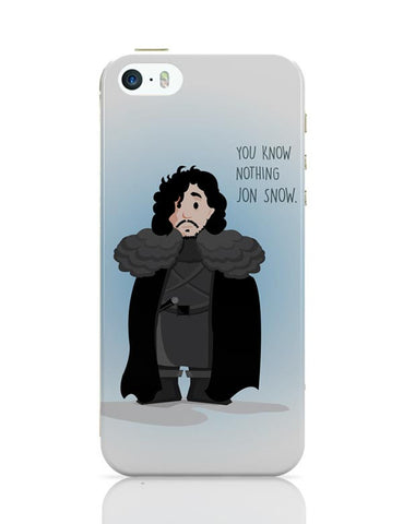 iPhone 5 / 5S Cases & Covers | You Know Nothin Snow iPhone 5 / 5S Case Cover Online India