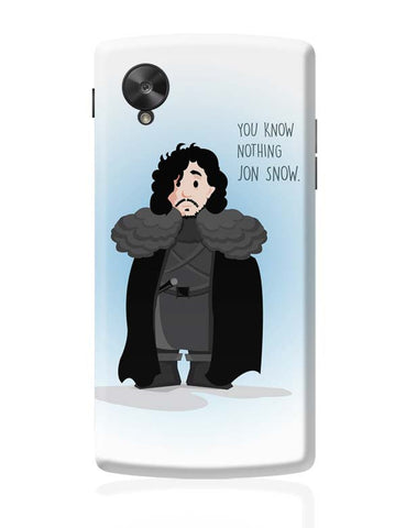 Google Nexus 5 Covers | You Know Nothin Snow Google Nexus 5 Case Cover Online India