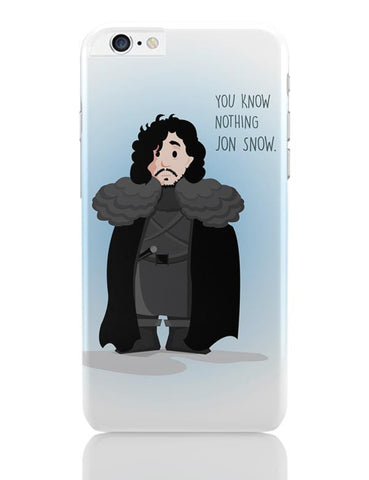 iPhone 6 Plus/iPhone 6S Plus Covers | You Know Nothin Snow iPhone 6 Plus / 6S Plus Covers Online India