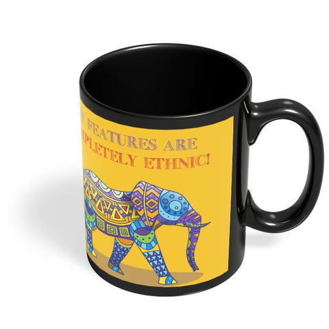 Ethnic Elephant Black Coffee Mug Online India