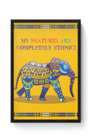 Ethnic Elephant Framed Poster Online India