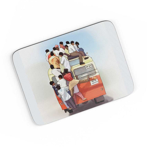 Crowded Bus A4 Mousepad Online India