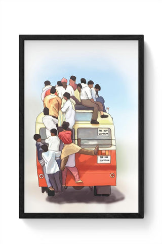 Crowded Bus Framed Poster Online India