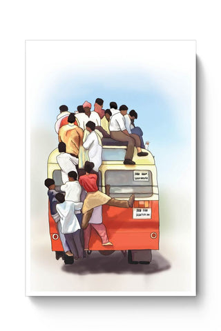 Crowded Bus Poster Online India