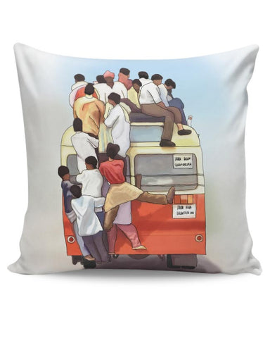 Crowded Bus Cushion Cover Online India