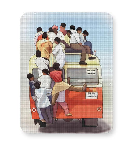 Crowded Bus Mousepad Online India