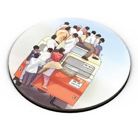 Crowded Bus Fridge Magnet Online India