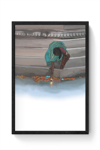 Morning Puja In India Framed Poster Online India