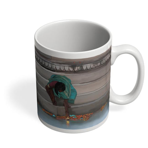 Morning Puja In India Coffee Mug Online India