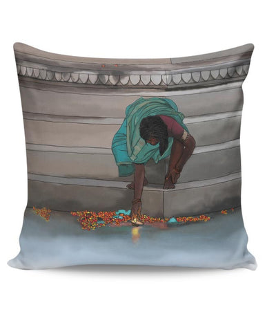 Morning Puja In India Cushion Cover Online India