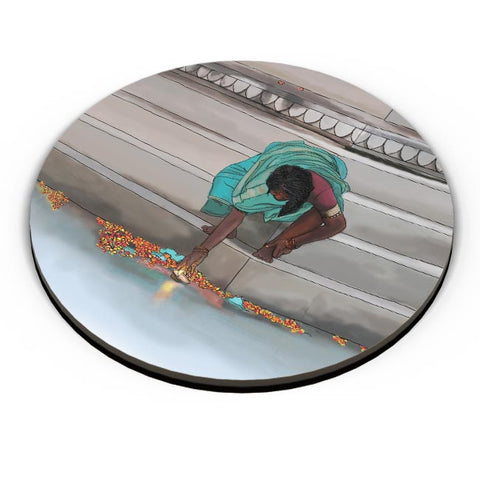 Morning Puja In India Fridge Magnet Online India