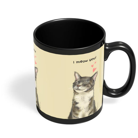 I meow you! Black Coffee Mug Online India