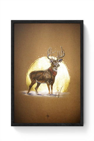 The Ready Reindeer Framed Poster Online India