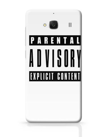 Parental Advisory T-Shirt Redmi 2 / Redmi 2 Prime Covers Cases Online India
