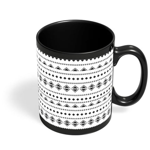 Abstract Shape Pattern Black Coffee Mug Online India