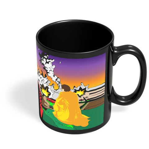 Man In City Black Coffee Mug Online India