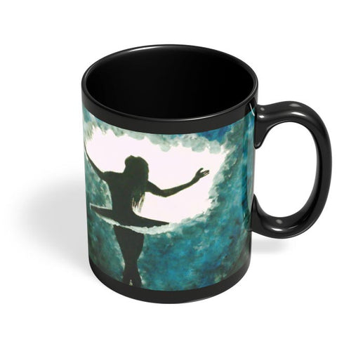 Ballet Dancer Black Coffee Mug Online India
