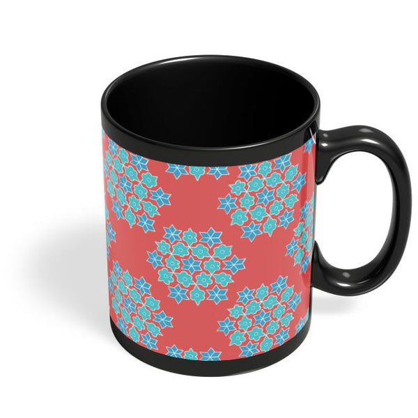 Rangoli Pattern Black Coffee Mug Online India