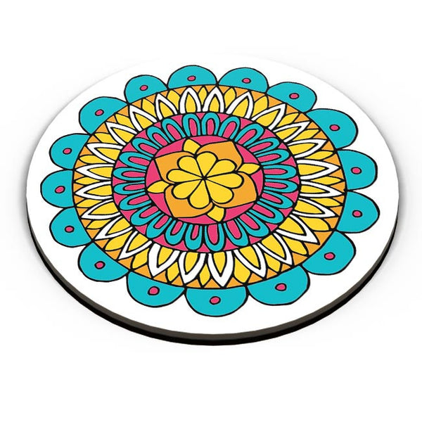 Retro Mandala Fridge Magnet Online India