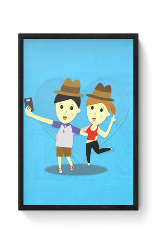 Romantic Selfie Framed Poster Online India