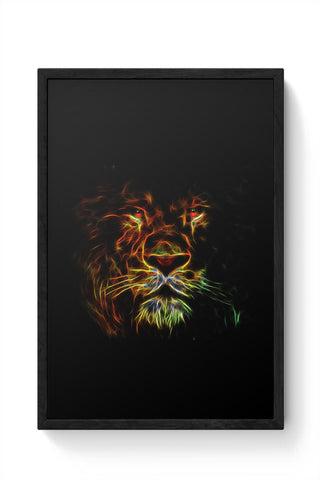 Lion Framed Poster Online India
