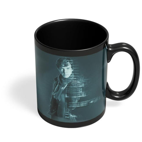 Sherlocked | Benedict Cumberbatch Black Coffee Mug Online India