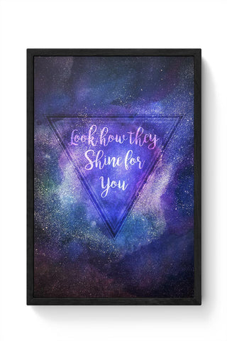 Starry Night | Coldplay Framed Poster Online India