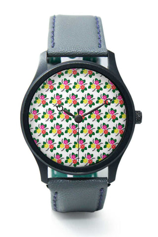 Wrist Watches India | Floral Doodle Premium Wrist Watch  Online India.