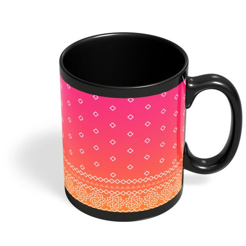 Rajasthani  pattern Black Coffee Mug Online India