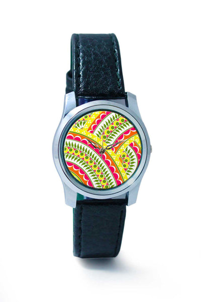 Women Wrist Watch India | Henna pattern Wrist Watch Online India