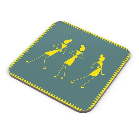 Fashion warli cushion Coaster Online India