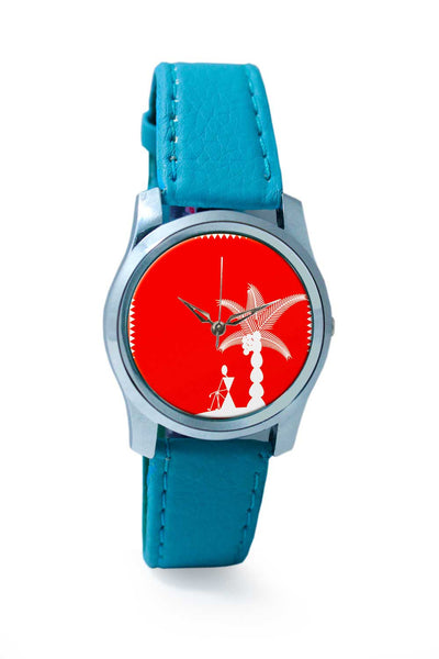 Women Wrist Watch India | Warli Cushion Wrist Watch Online India