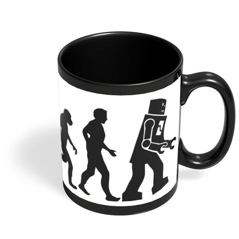 Robot Evolution March Black Coffee Mug Online India