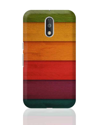 Colourful Wooden Planks Moto G4 Plus Online India