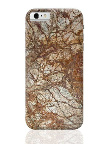 Brown Marble Glossy iPhone 6 / 6S Covers Cases
