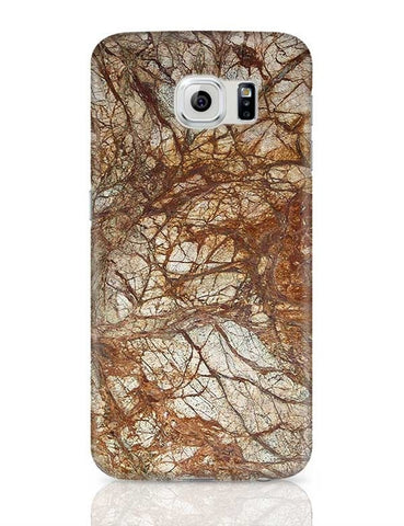 Brown Marble Glossy Samsung Galaxy S6 Covers Cases Online India